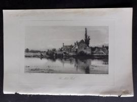 Aflalo 1898 Antique Print. The Mill Pool